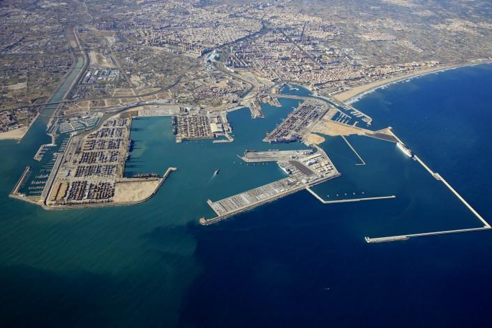 Puerto de Valencia aérea